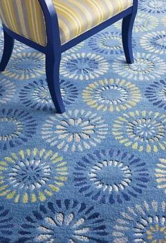 Blue Woolen Area Rug Manufacturers in Solapur