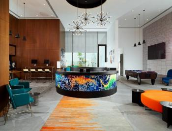 Colorful Hotel Reception Area Carpet Manufacturers in Bangalore