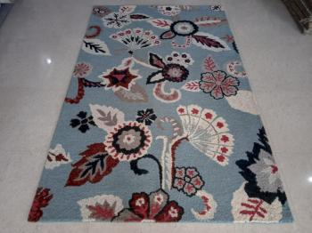 Colorful Modern Art Floor Rug Manufacturers in Panipat