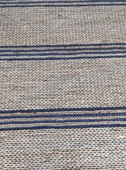 Jute Ticking Indigo Outdoor Rug Manufacturers in Bishnupur