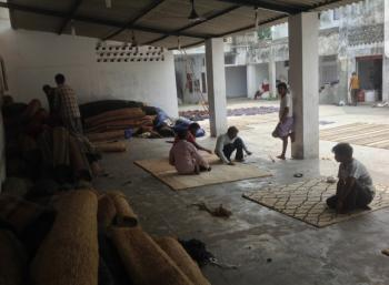 Line Pattern Wall To Wall Hand Tuffed Carpet Manufacturers in Motihari