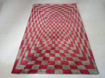 Patchwork Red Floor Carpet Manufacturers in Panipat