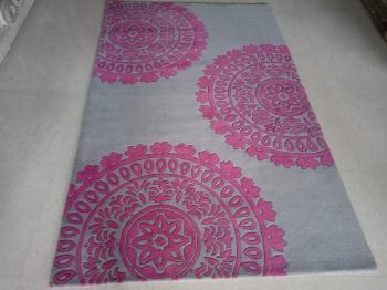 Purple Sacred Floral Circle Mandala Rug Manufacturers in Panna