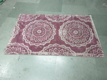 Tientsin Pink Floral Wool Floor Rug Manufacturers in Champhai