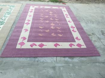 Woolen Handmade Floor Carpet Manufacturers in Panipat